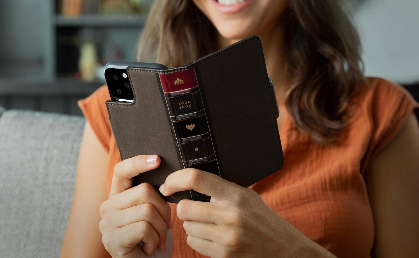 BookBook vol. 2 iPhone 11 Pro Wallet Case by Twelve South transforms your smartphone into an old novel