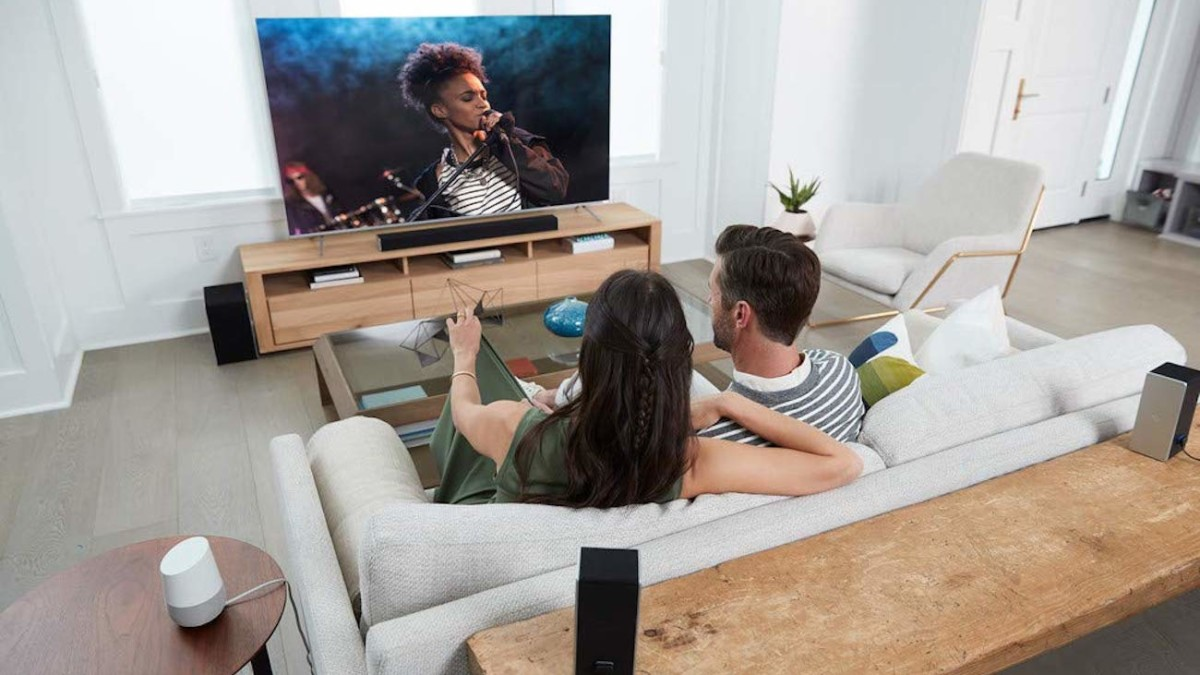 VIZIO 36″ 5.1.4 Sound System Home Theater Setup has upward-firing speakers for overhead sound