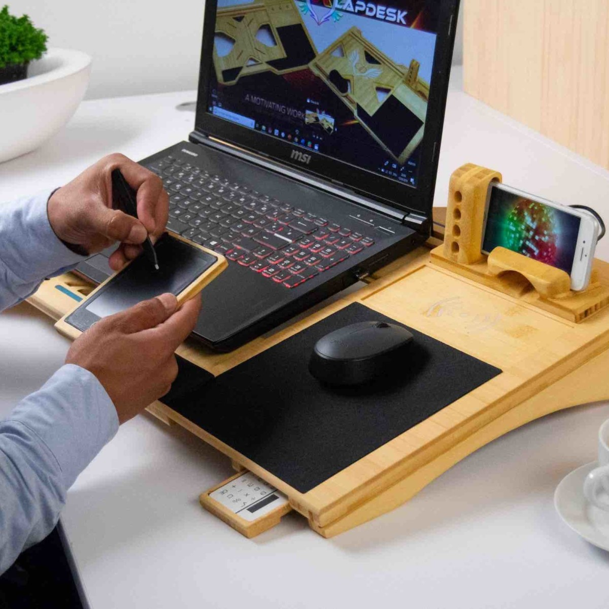 X LapDesk Multifunctional Lap Desk Workstation is all about convenience
