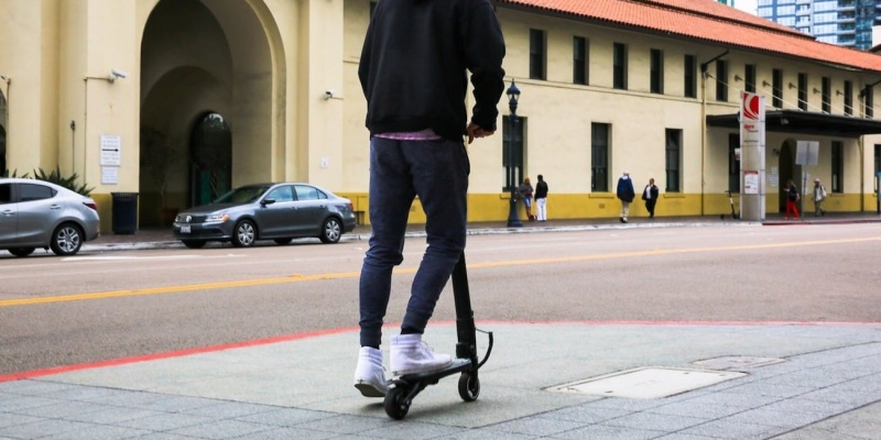 The MiniFalcon scooter is surprisingly fast and easy to carry