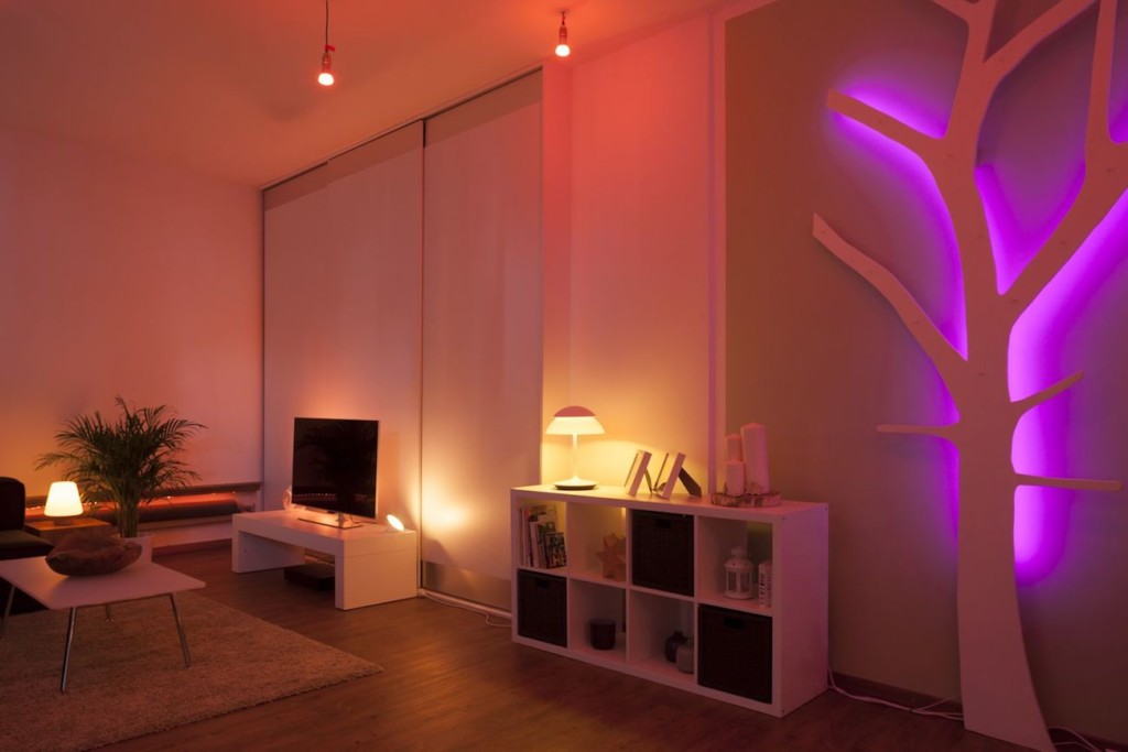Philips Hue Beyond Smart Table Lamp emits just enough light