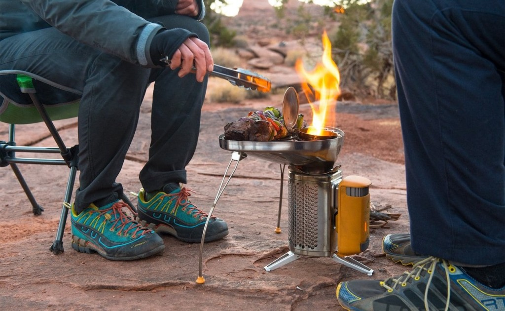 CampStove 2 combines a generator and a camp stove in one