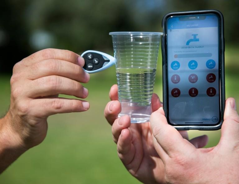 TestDrop Pro water analysis works in real-time