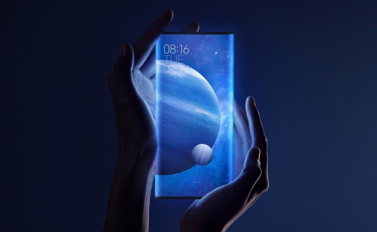 The Xiaomi Mi MIX Alpha has a wrap-around display