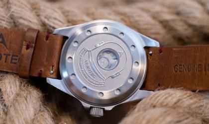 The back of a cool tech gadgets from Kickstarter dive watch.