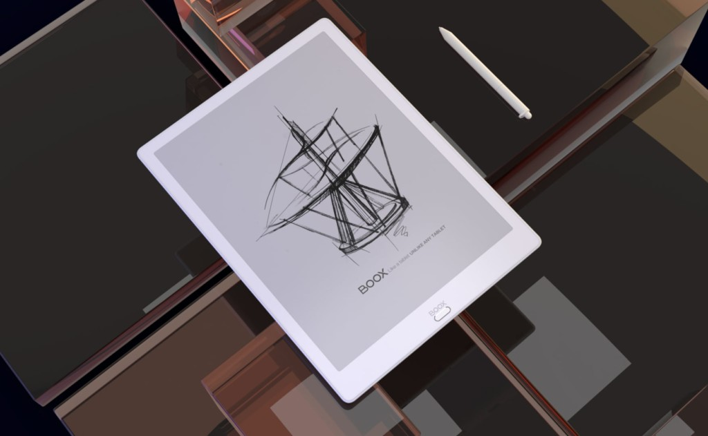 BOOX Max3 uses an e-ink display for reading and writing in any light