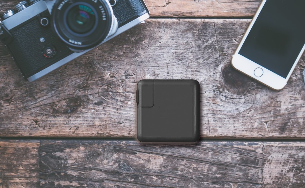 This portable power bank double as a file-transferring device