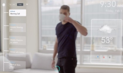 Ayi smart mirror has a built-in interface on the front