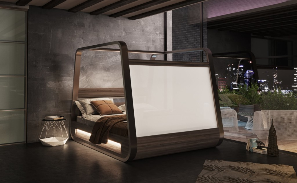 HiBed features a built-in TV screen