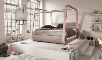 HiBed has a luxurious canopy-style design