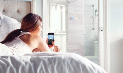 U by Moen smart shower is controlled by an app