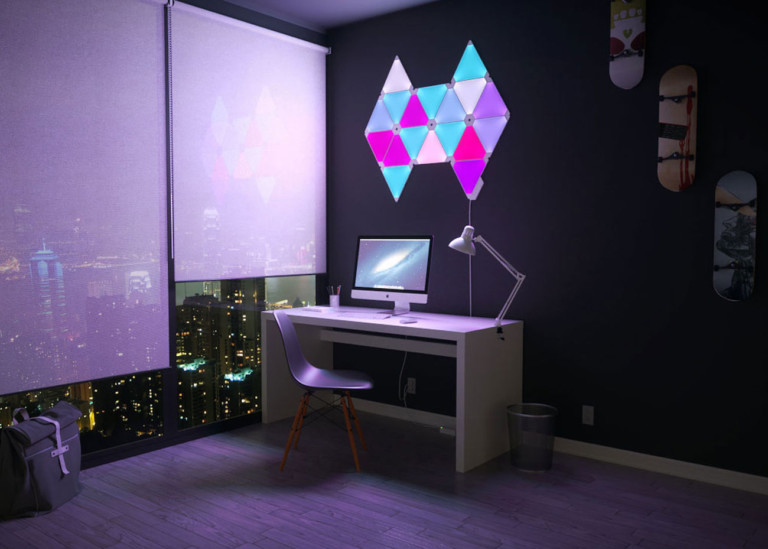 Nanoleaf Aurora kits can be arranged in any pattern or design