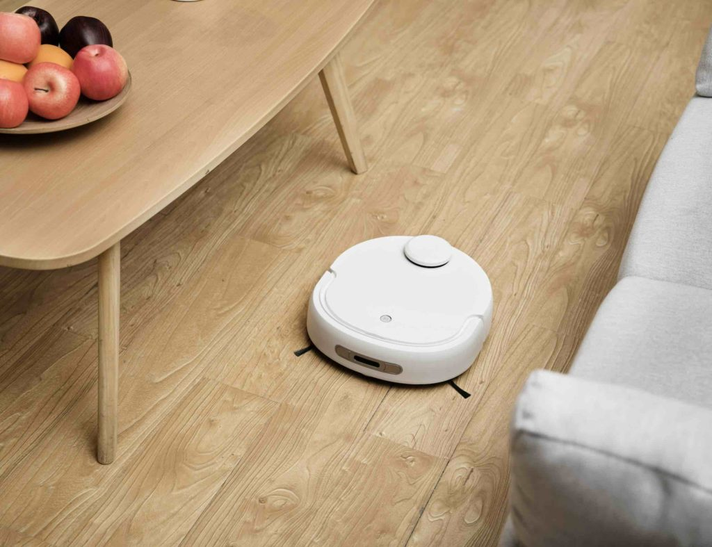 Smart robot vacuum and mop performs automatically