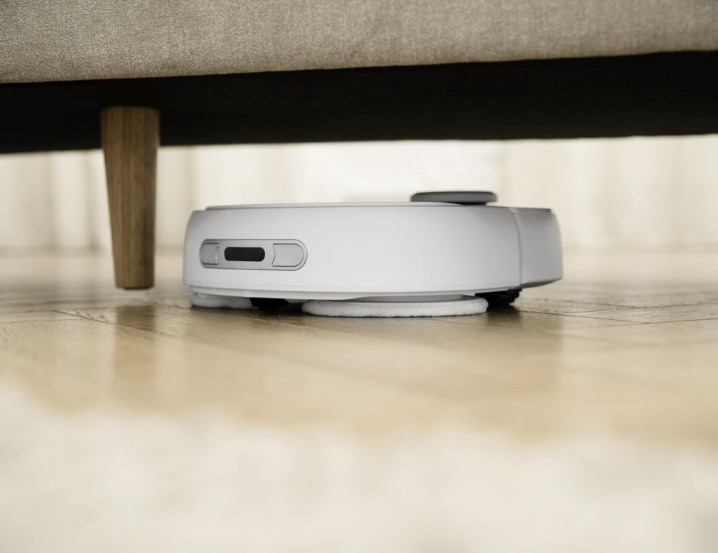Narwal smart vacuum is small enough to go under lower furniture