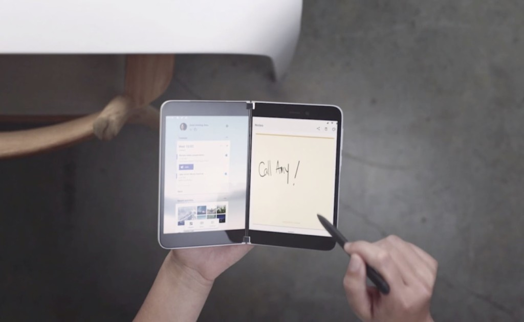 Microsoft Surface Duo is easily held like a book