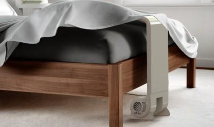 bFan circulates cool air under the sheets