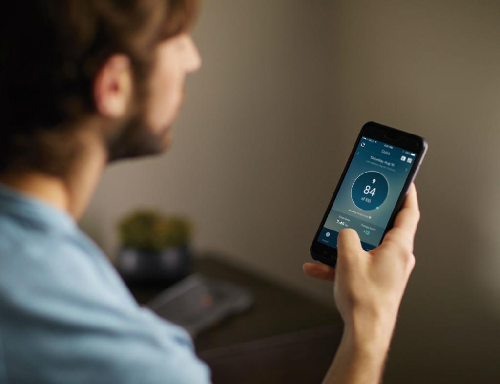 L'application Philips propose des commentaires sur le rêve dans l'application.