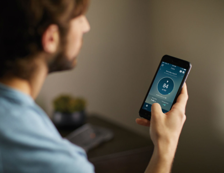 Philips app gives sleeping feedback in the app