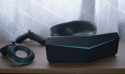 Pimax 8k VR headset on a table