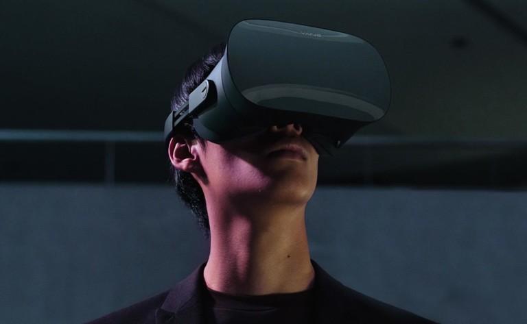 Person using Varjo VR 2 Headset