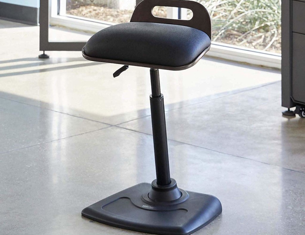 Standing desk chair with full support