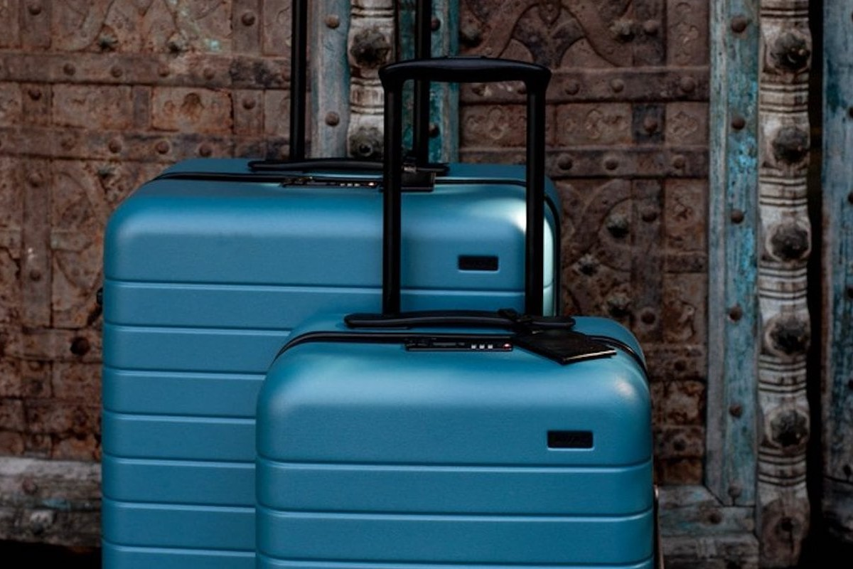 Away Bigger Carry-On Lifetime Suitcase fits in most overhead bins