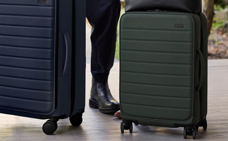 """Away <em class=""""algolia-search-highlight"""">Travel</em> The Expandables Nylon Luggage Collection gives you 1.75"""" of extra space"""