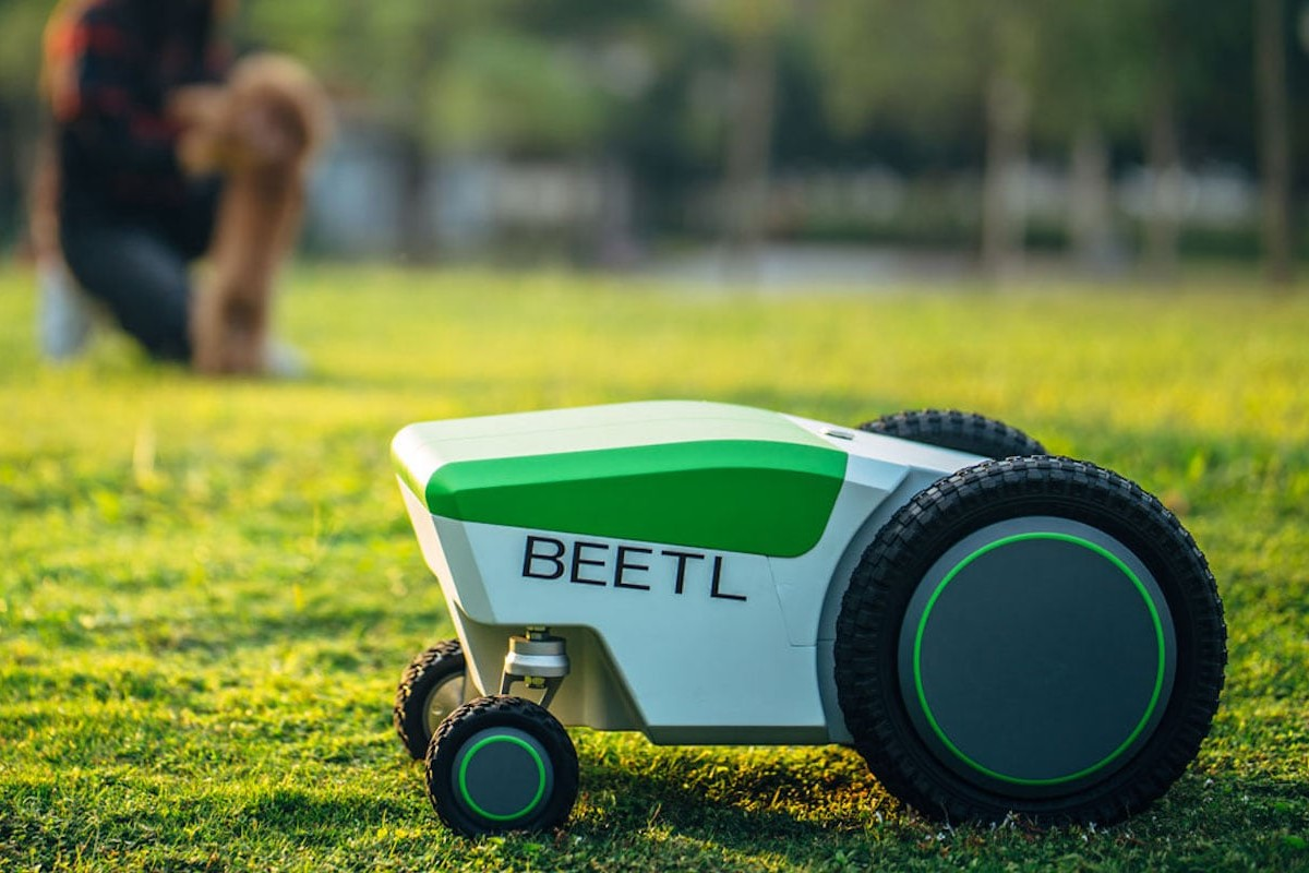 Beetl Robotics Autonomous Poop Scooper finds and picks up your pup's business on its own