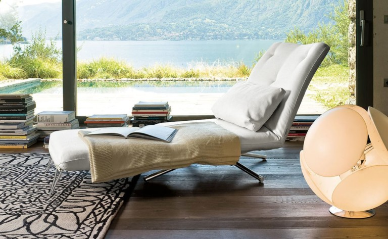Benny Cotton Minimalist Chair-Bed is a modern solution to hosting with limited space