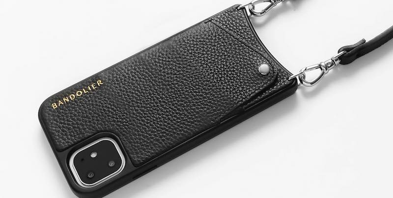 Bandolier's Emma is an iPhone 11 Pro wallet case with a strap