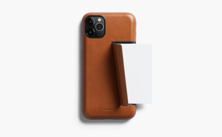 The Bellroy iPhone 11 Pro Wallet Case offers four functions in one