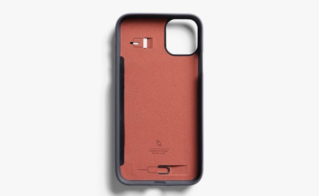 This iPhone 11 Pro Wallet Case has a built-in SIM card slot