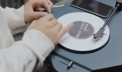 best music gadgets turntable at a party