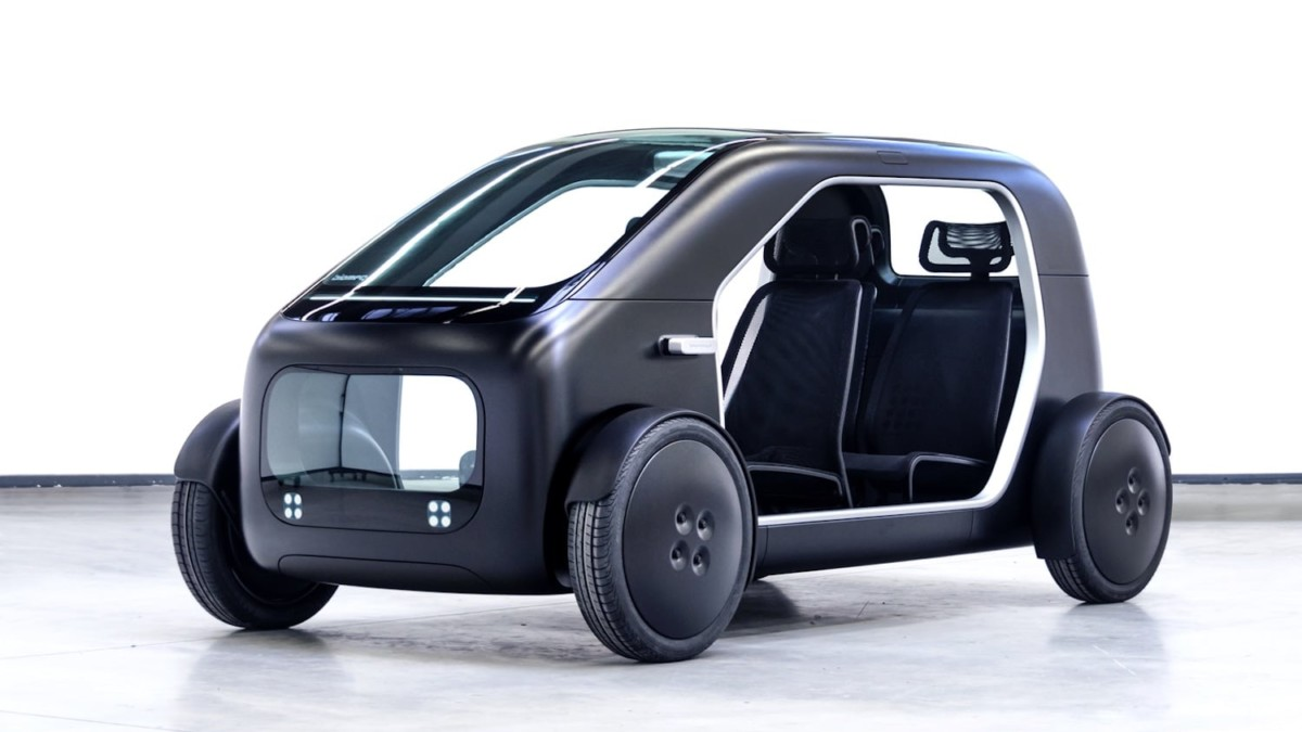 Biomega EV Battery-Powered Urban Vehicle has a modular battery-swapping system