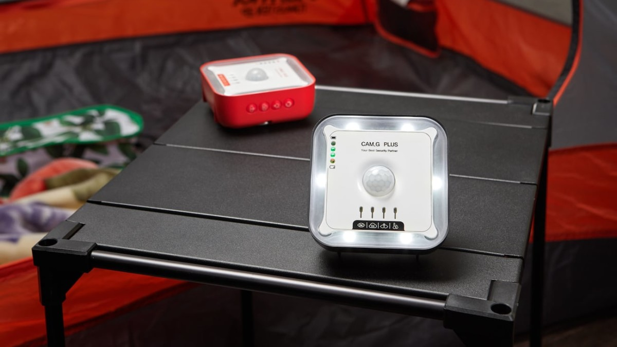 Cam.G Plus Camping Security Device helps keep your belongings safe in the outdoors