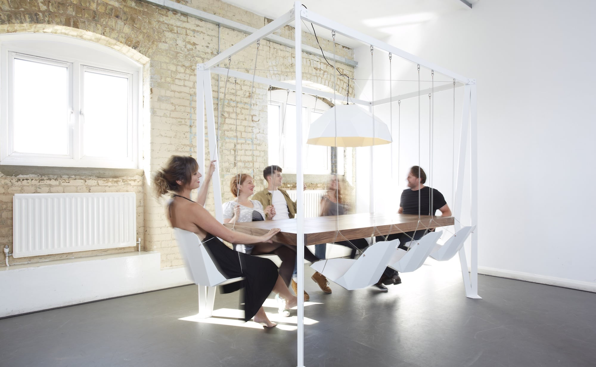 Duffy London Swing Set Conference Table adds fun to the workplace