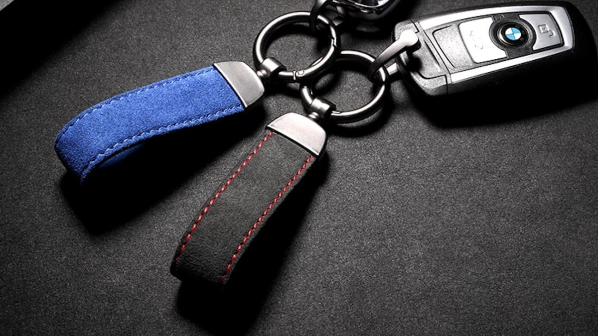 Durable Leather Strap Key Chain adds sophistication to your keys