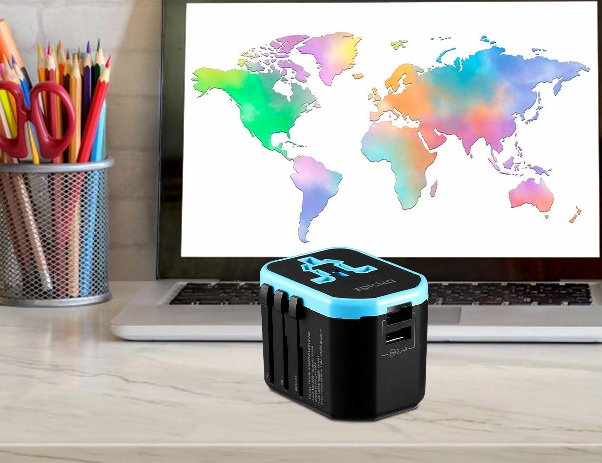 EPICKA Universal Travel Adapter provides plugs for more than 150 countries