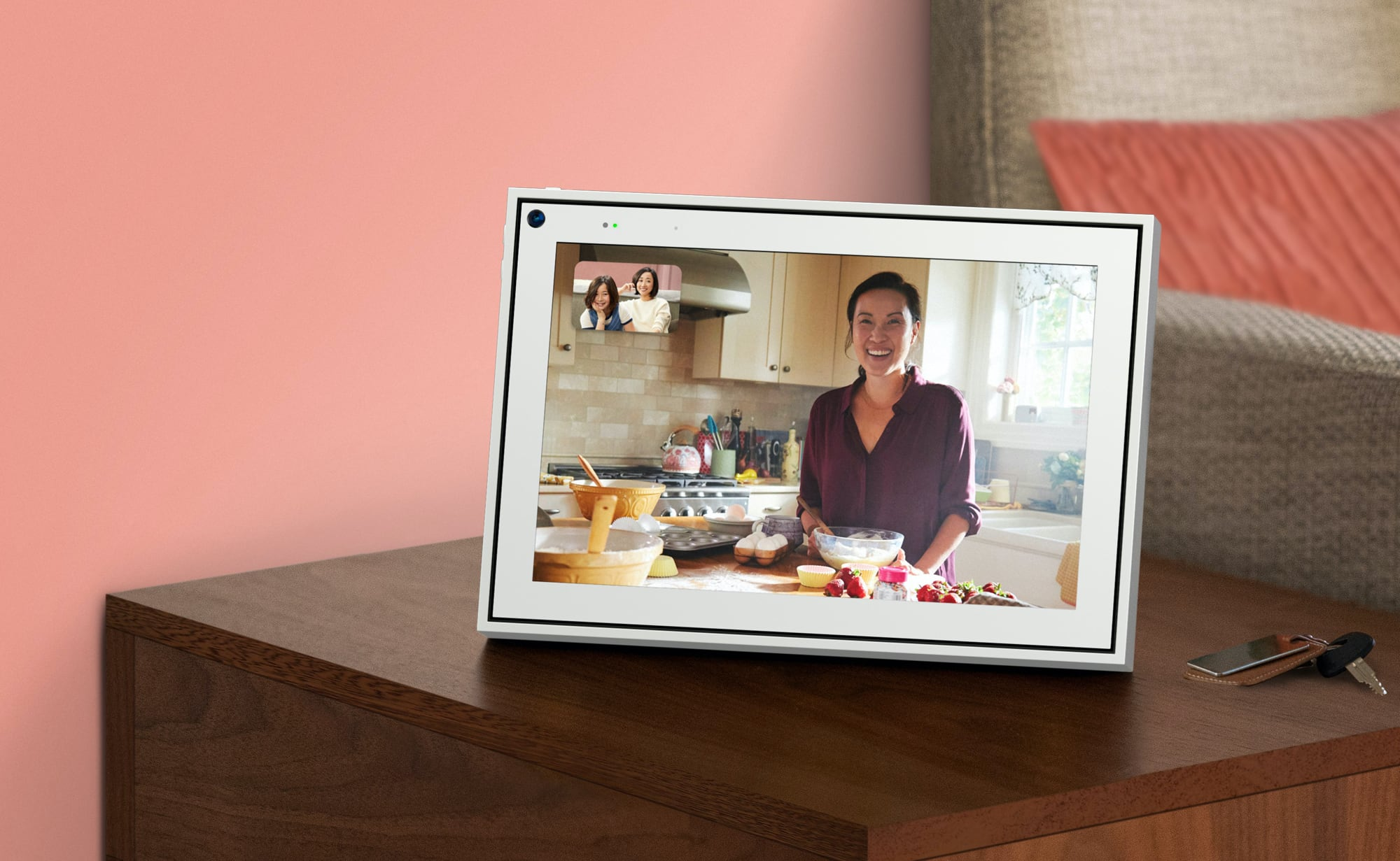 Facebook Portal 10″ Video Calling Device uses a smart camera to keep up with movement