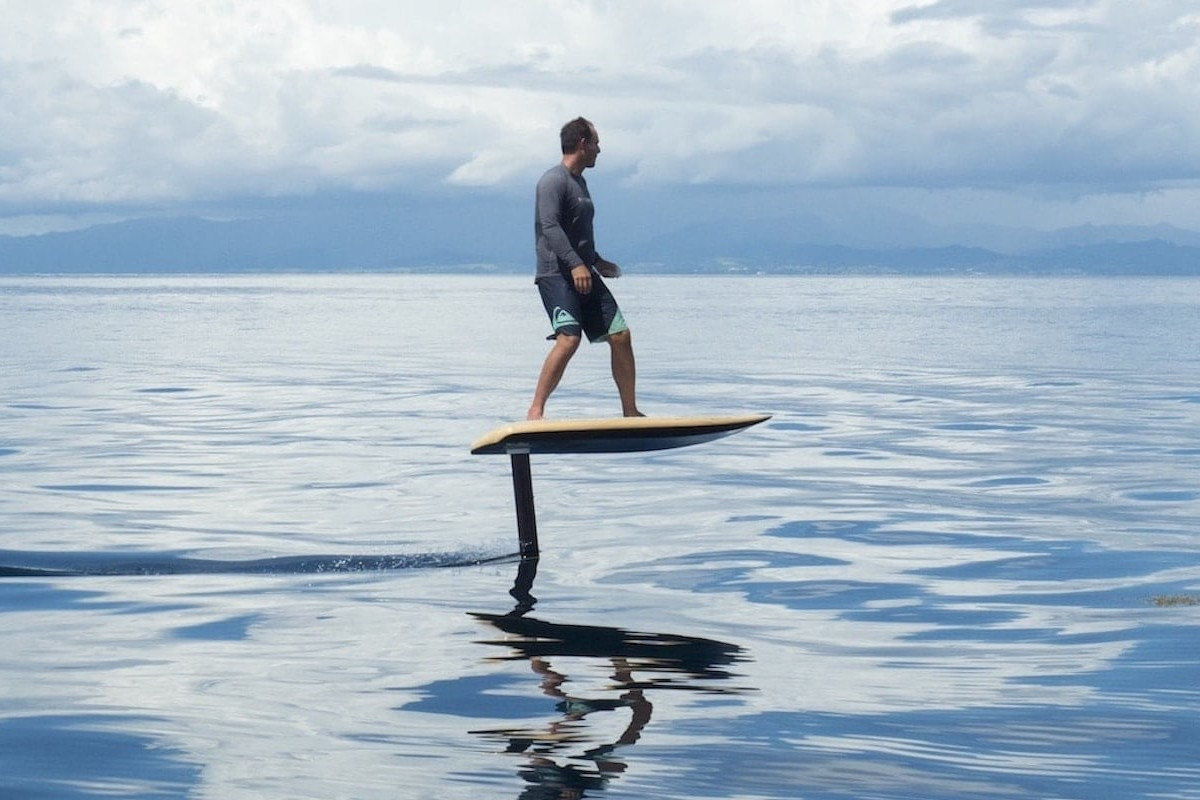 Fliteboard eFoil Flying Water Board transports you at up to 45 kilometers per hour
