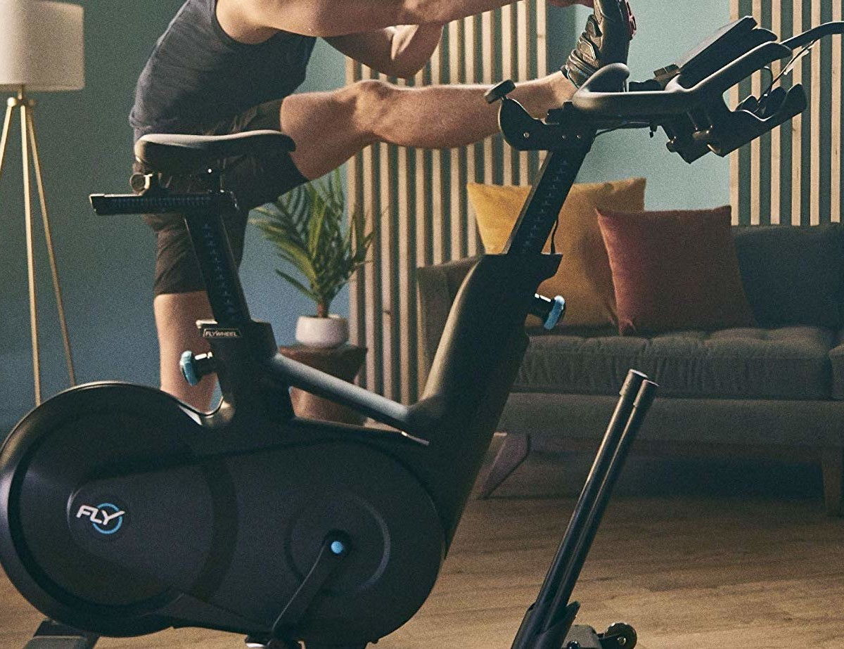 Flywheel Home Bike Indoor Exercise Bicycle offers live interval cycling workouts