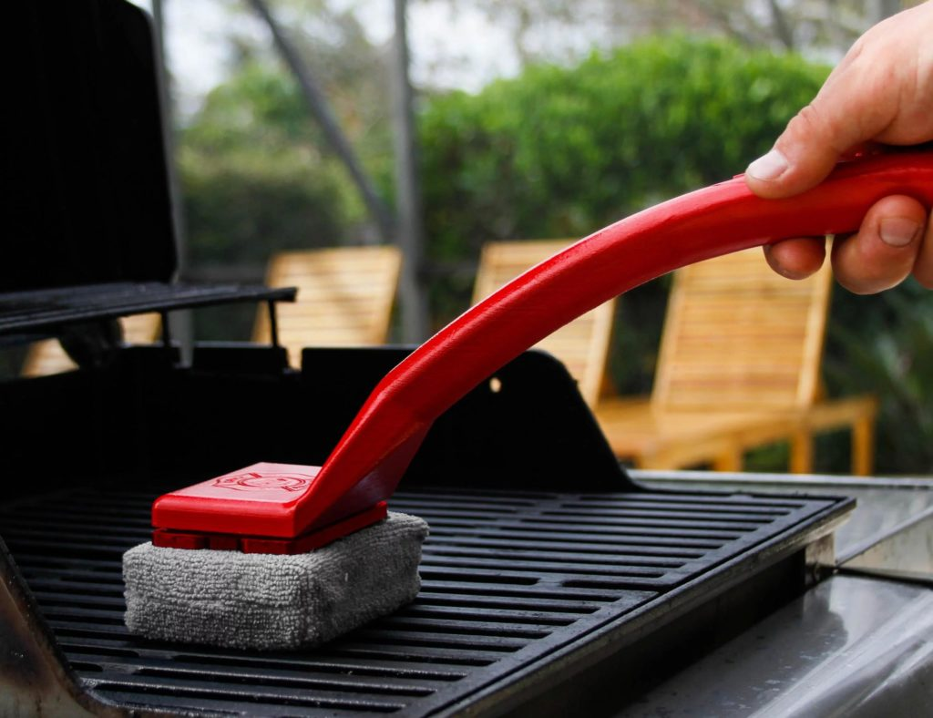 all things bbq steam cleaning brush