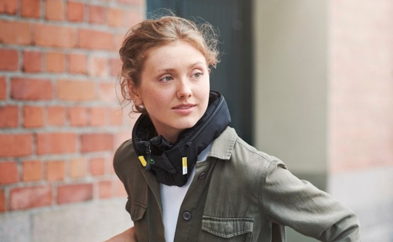 Hövding 3 Urban Cyclist Airbag sits around your neck like a collar
