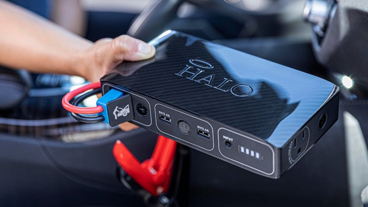HALO Bolt 58830 Portable Vehicle Jump Starter recharges your smartphone and car