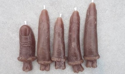 Halloween decorations - Halloween Finger Candles Cropped