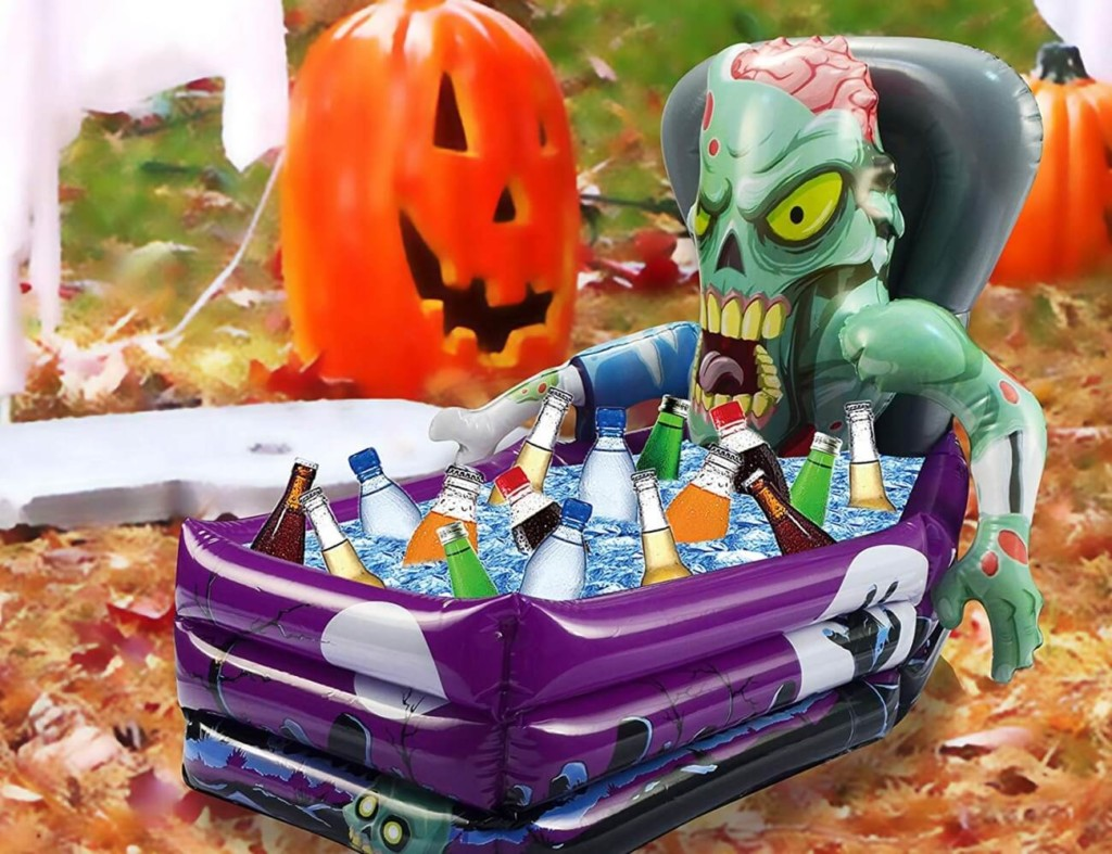 Halloween decorations - Halloween Party Inflatable Zombie Drink Cooler