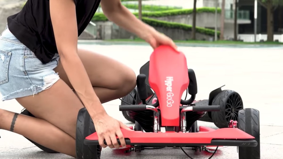 Hyper GOGO Go Kart Kit Hoverboard Vehicle converts your flying craft into a go-kart
