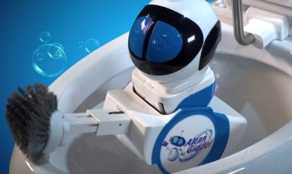 bathroom gadgets robot to clean toilet
