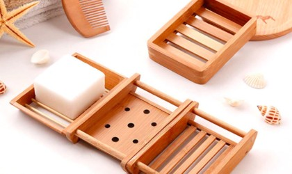 bathroom gadgets bamboo soap dishes come in different styles