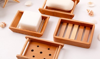 bathroom gadgets bamboo soap dishes are stylish